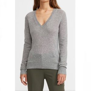 Theory Grey V Neck Sweater (Slightly Defected)
